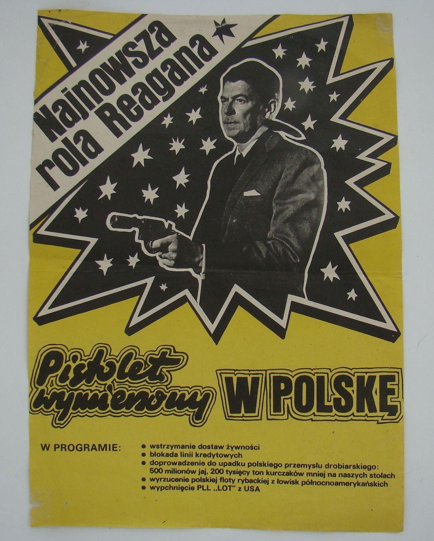 Plakat Propagandowy Pistolet Wymierzony W Polskę