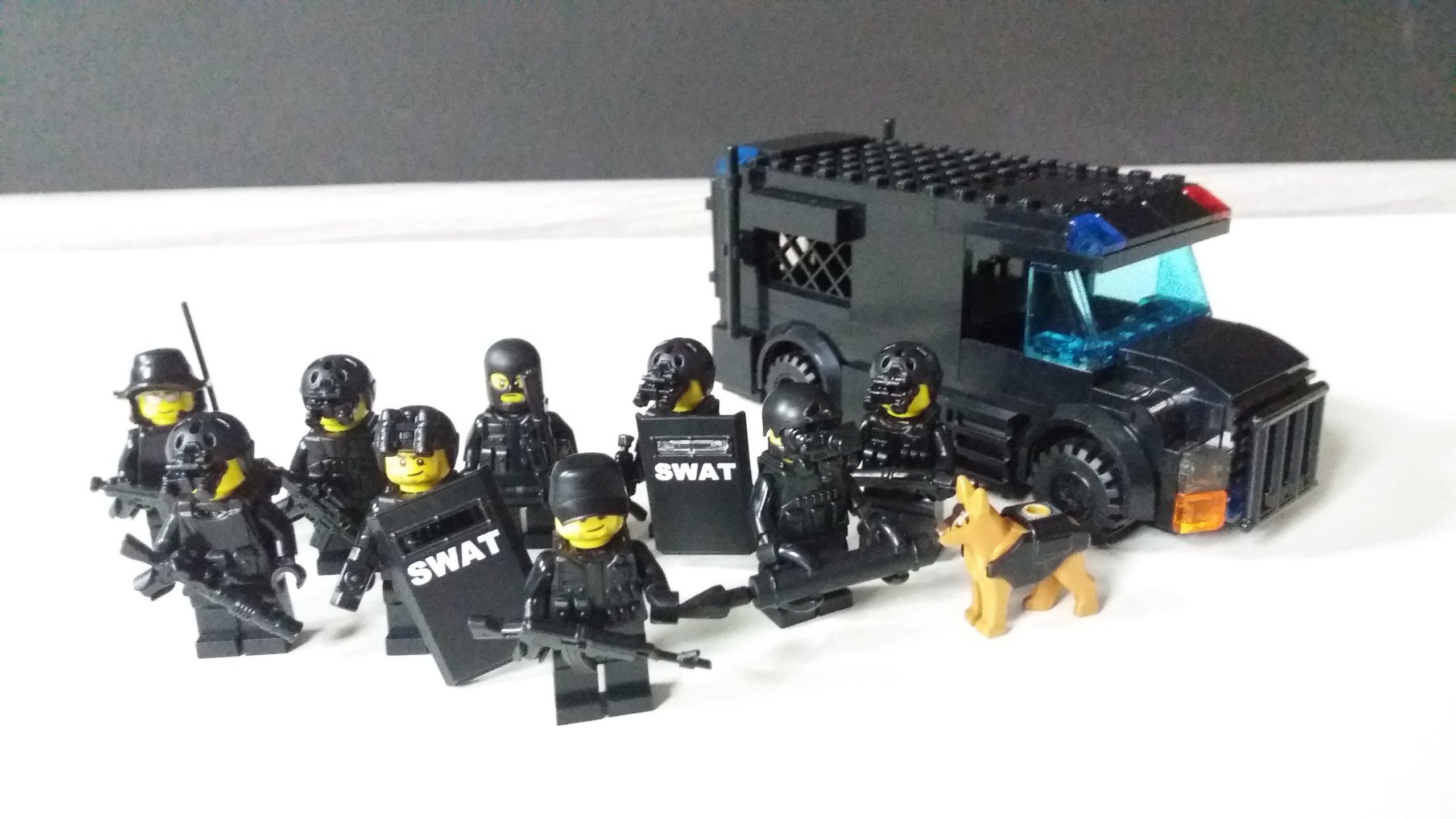 Lego Moc Oddział Swat Unikat 7249134193 Oficjalne