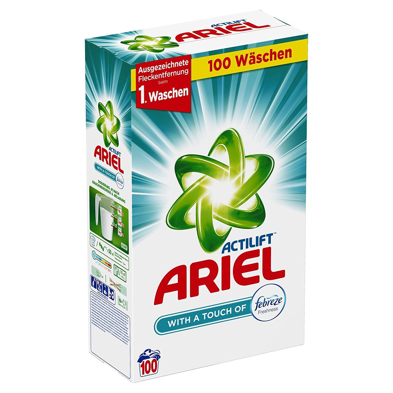Poważne PROSZEK ARIEL FEBREZE 100 prań niemiecki 6500 g - 7232965632 DR59