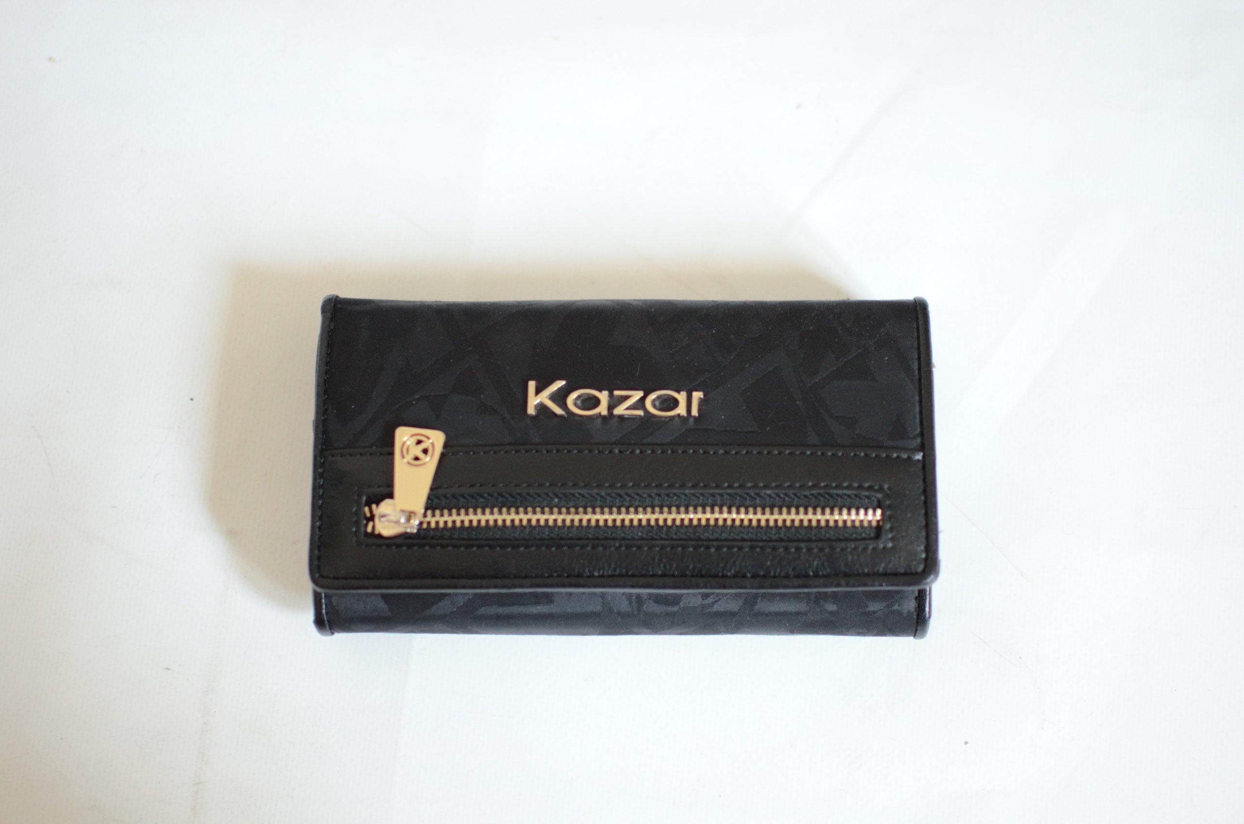 089d2ee3efdb8 Portfel damski KAZAR czarny - 7396093506 - oficjalne archiwum allegro