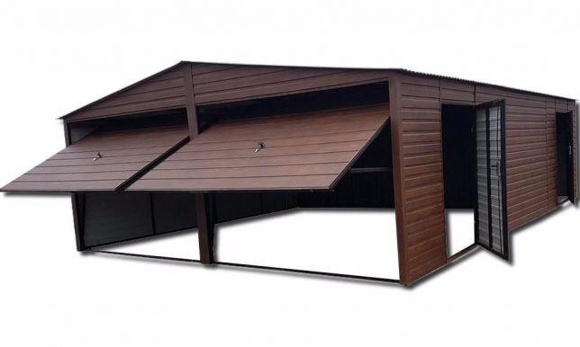 Garaż Blaszany 6x8 Drewnopodobny Garaże Blaszane 7314714777