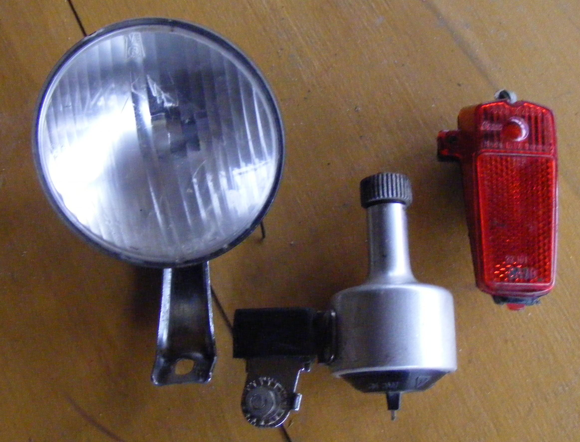 Oświetlenie Lampy Dynamo Do Roweru Komplet 7081432787