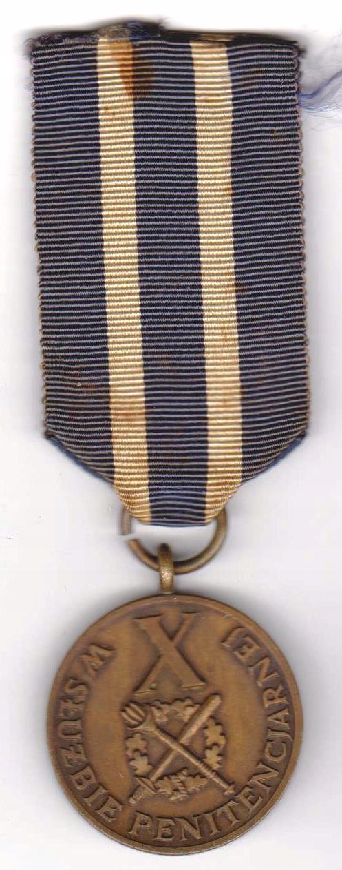 Medal X lat w służbie penitencjarnej