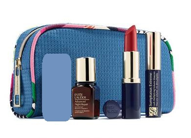 Ogromny Estee Lauder kosmetyczka z miniaturami Advanced - 7439930799 QA23