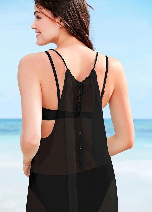 981f35e46b Sukienka plażowa czarny 48 4XL 979332 bonprix - 7300533441 ...