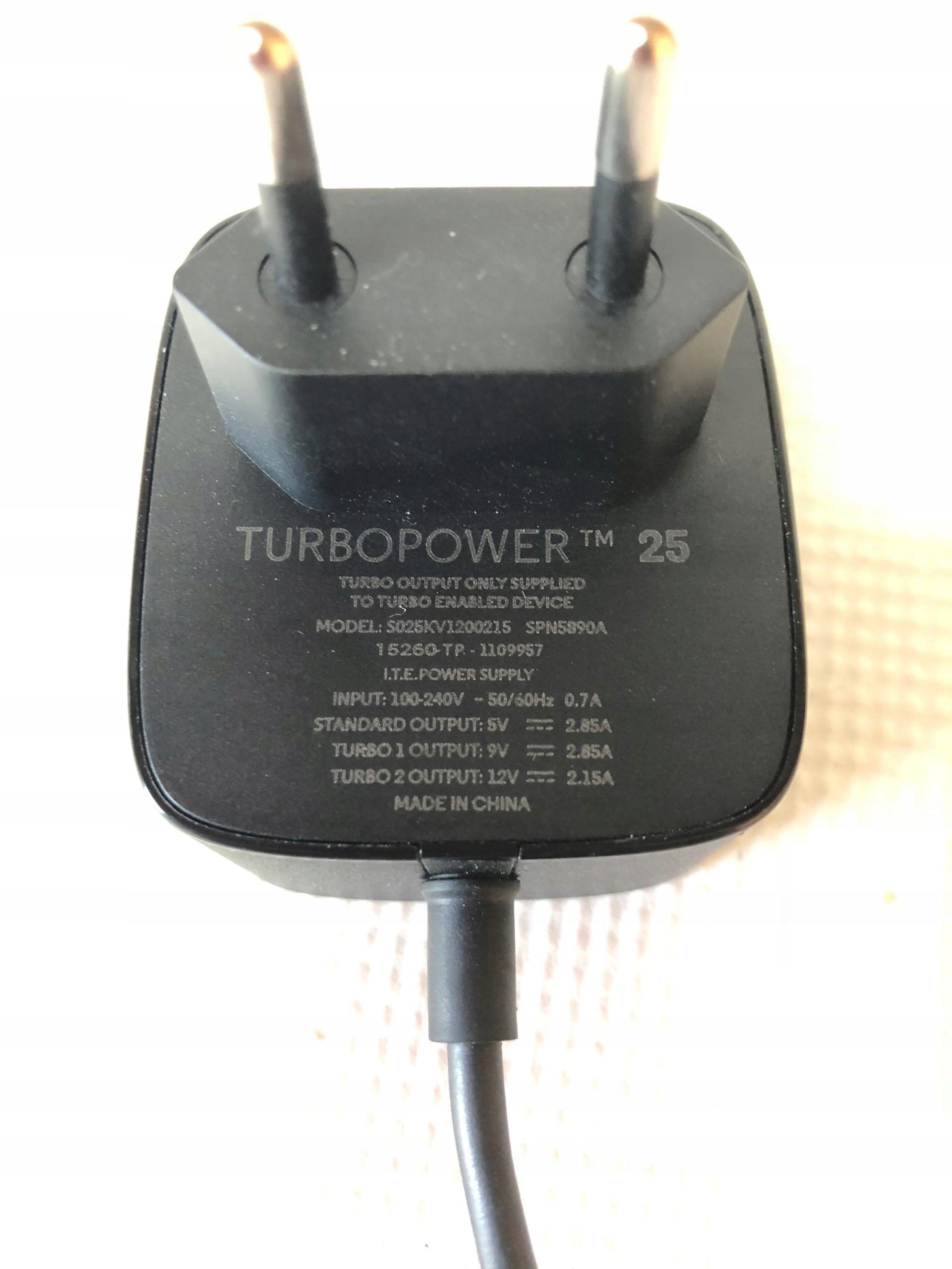 Ładowarka zasilacz TurboPower Motorola XT1572 25W