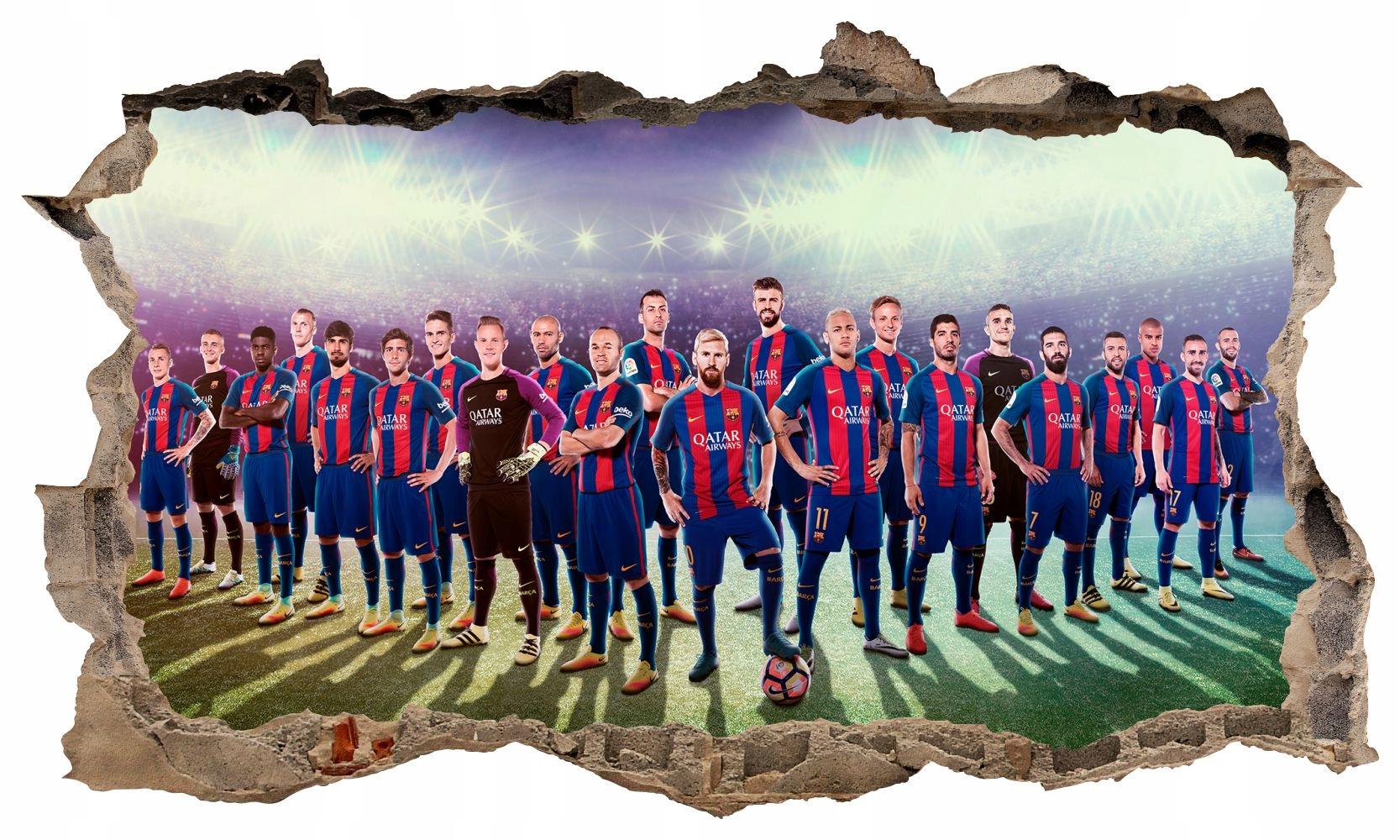 Naklejka Na Sciane Real Madryt Fc Barcelona Pilka 7016842747