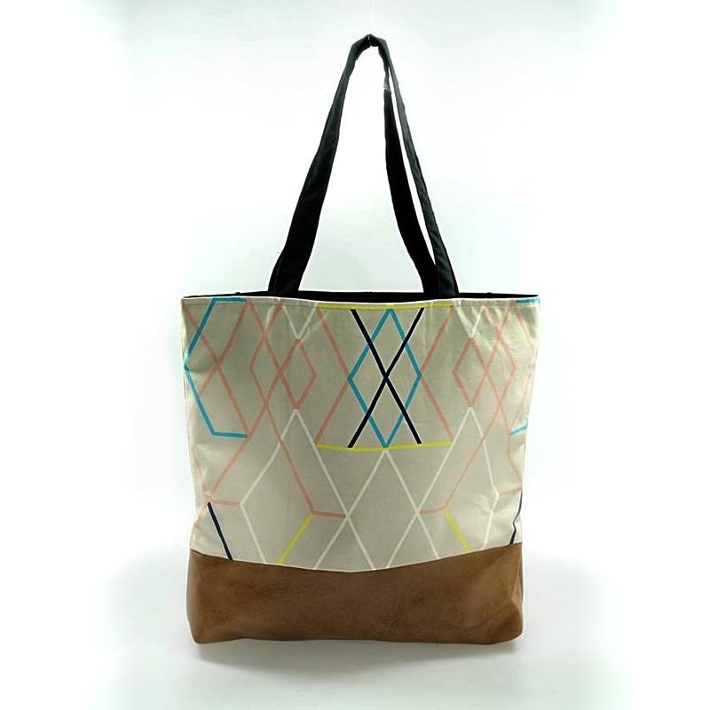 dc7ffeabec3e1 Duża materiałowa torba SHOPPER na ramię etno boho - 7234788146 ...
