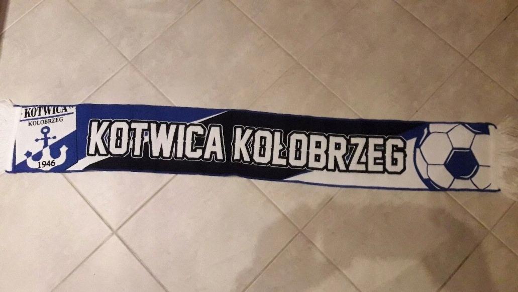Rewelacyjny szalik KOTWICA KOŁOBRZEG ( Pogoń, KKS Kalisz ) - 7603188304 KJ99