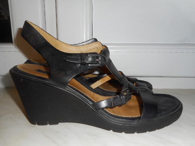 ecco sandały damskie skora koturny