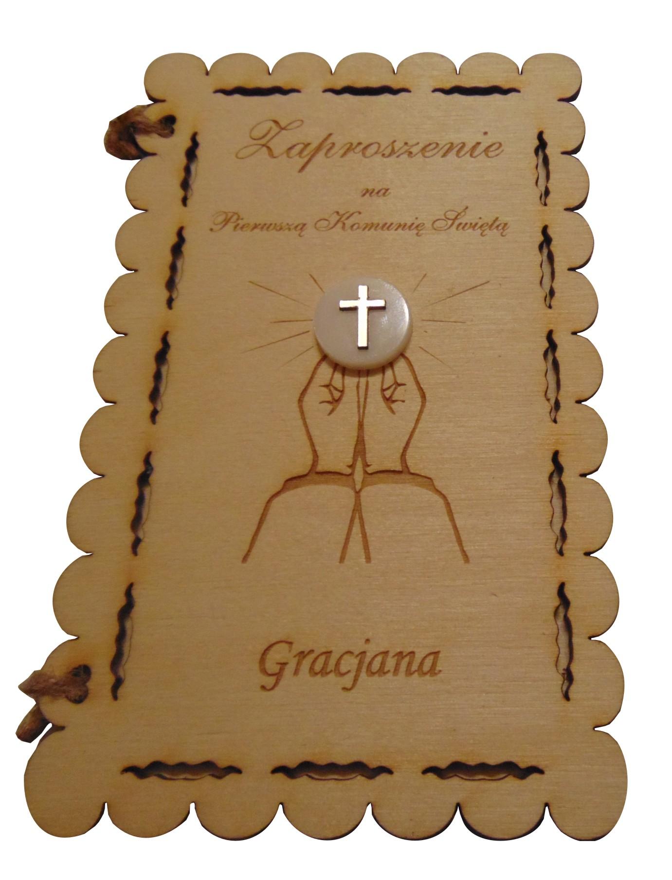 Zaproszenia Na Komunię świętą Drewniane Gratis 7182457168