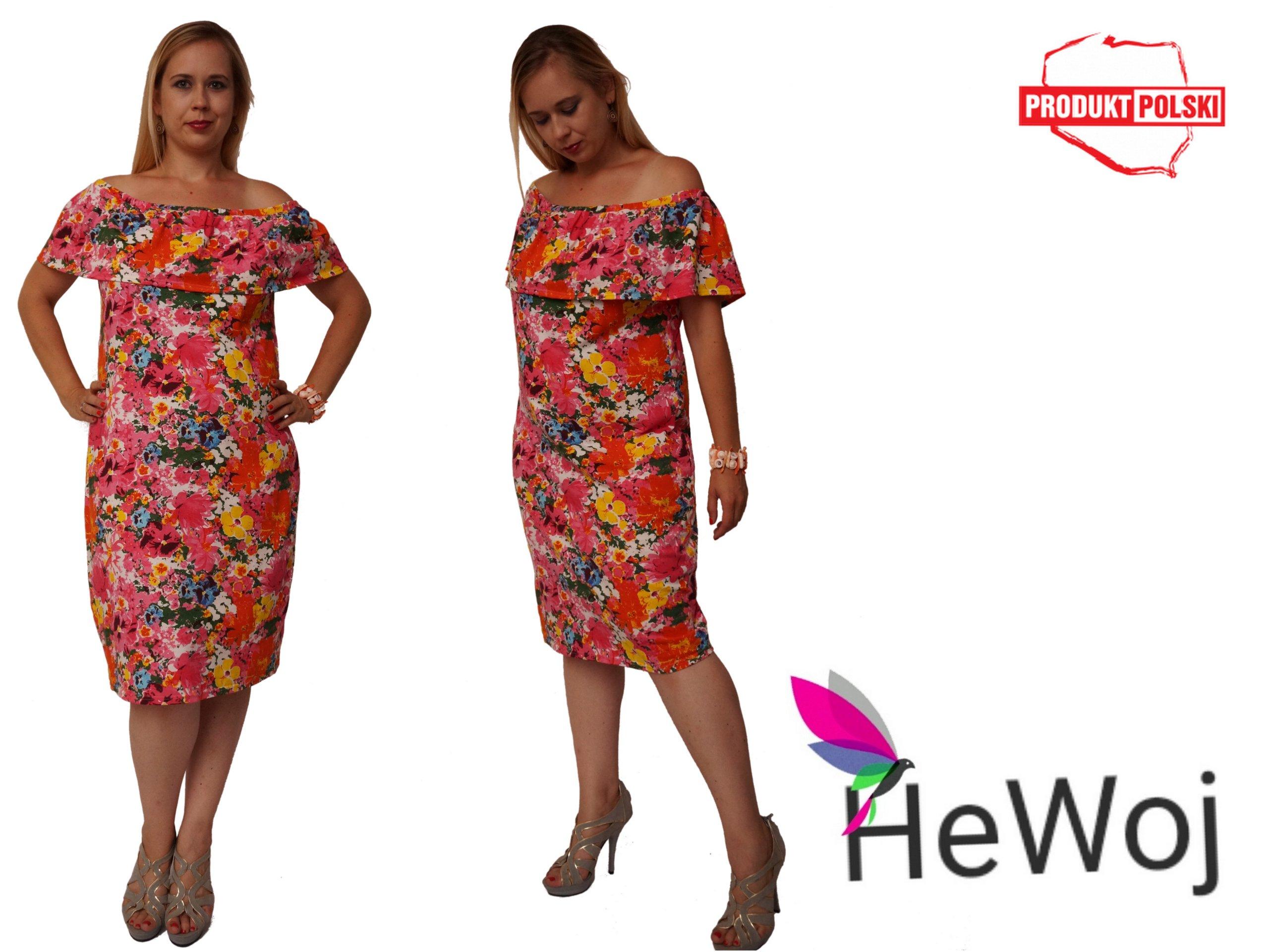 ad42e40994 Sukienka w kwiaty - hiszpanka r. 50 HeWoj - 6894335445 - oficjalne ...