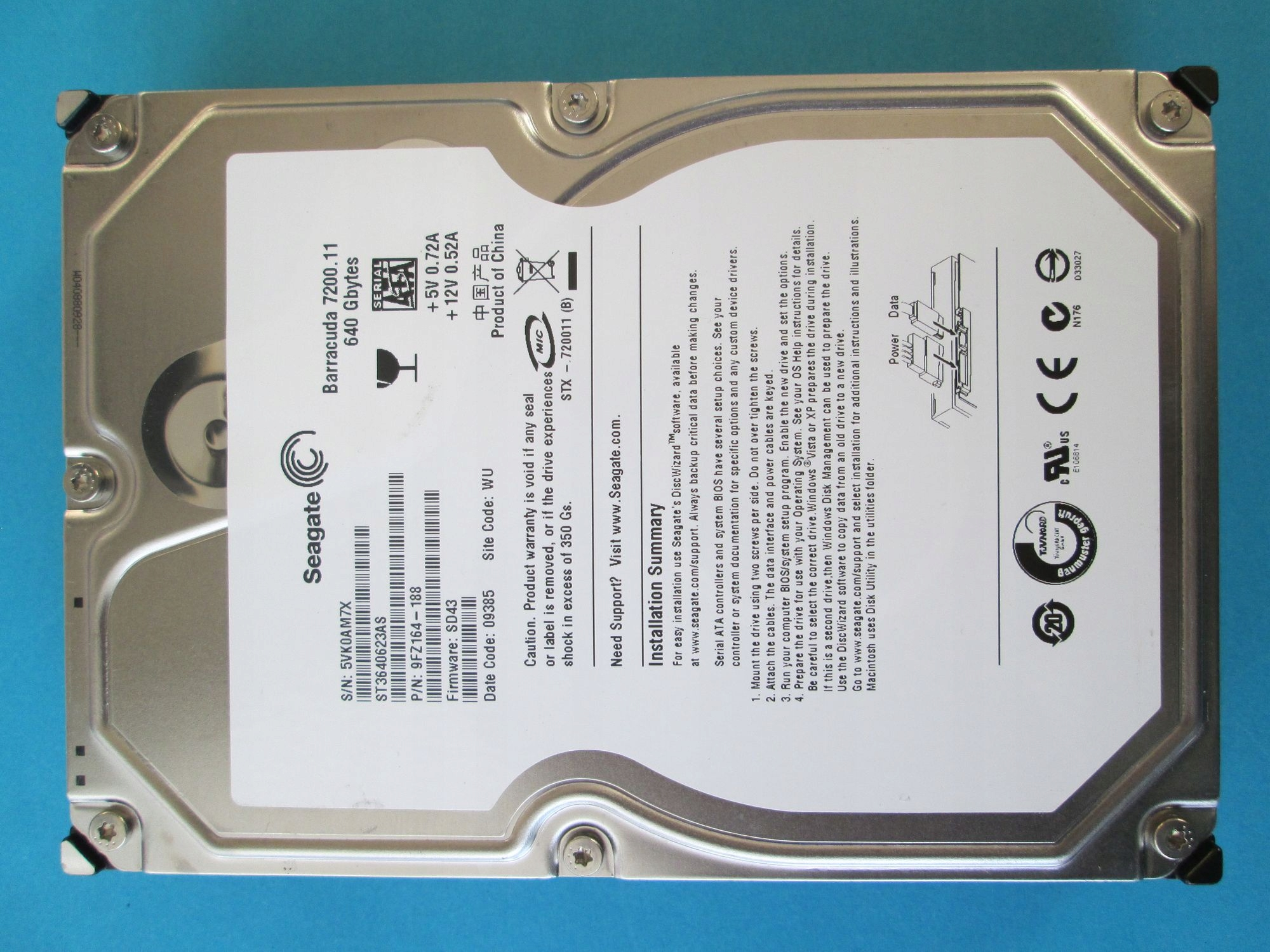SEAGATE BARRACUDA 7200.11 ST3640623AS WINDOWS 8.1 DRIVER DOWNLOAD