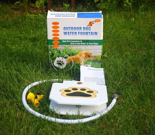 e94426a82000b2 Fontanna ogrodowa dla psów, metal+sprężyna+wąż - 7482839177 ...