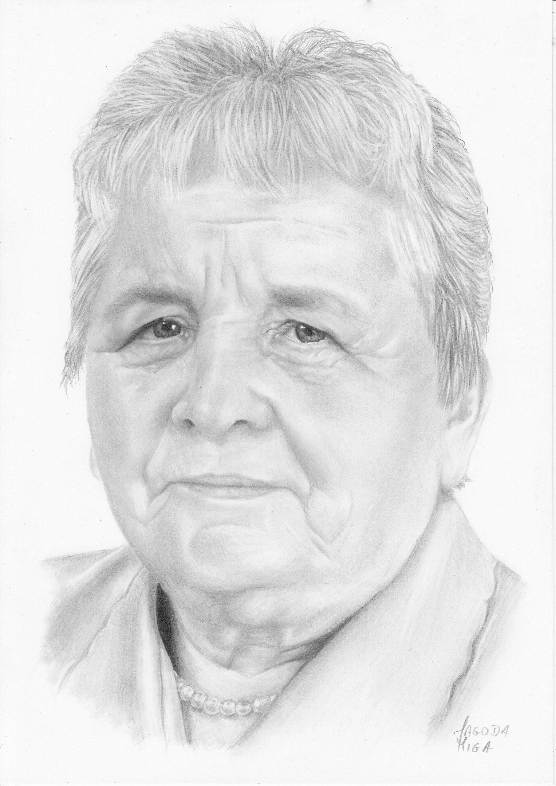 Portrety Ze Zdjęć Rysunki Ołówkiem Prezent Ozdoba 7130454652