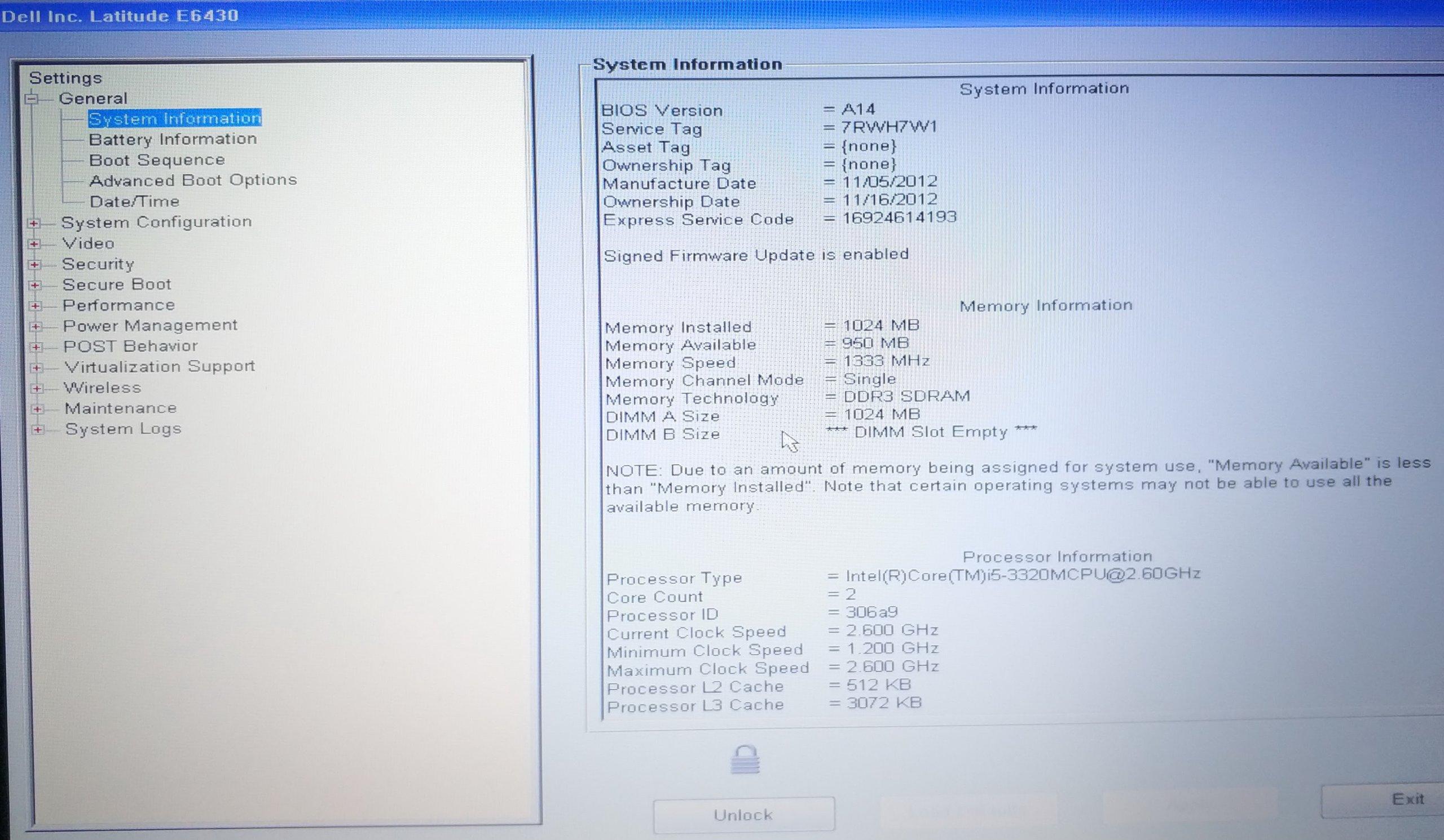 Dell Latitude E6430 z hasłem na BIOS i5 2,6Ghz