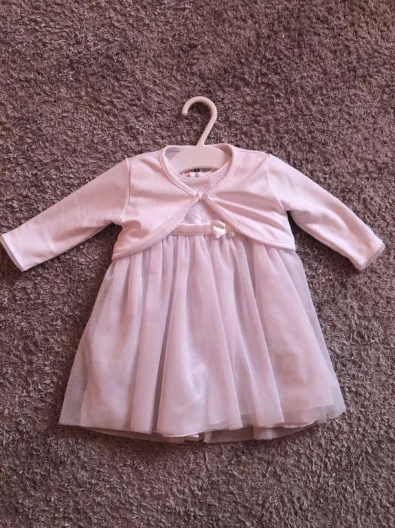 7a88177dd0b30 Sukienka Coccodrillo do chrztu rozmiar 62 + buciki - 7662943533 ...