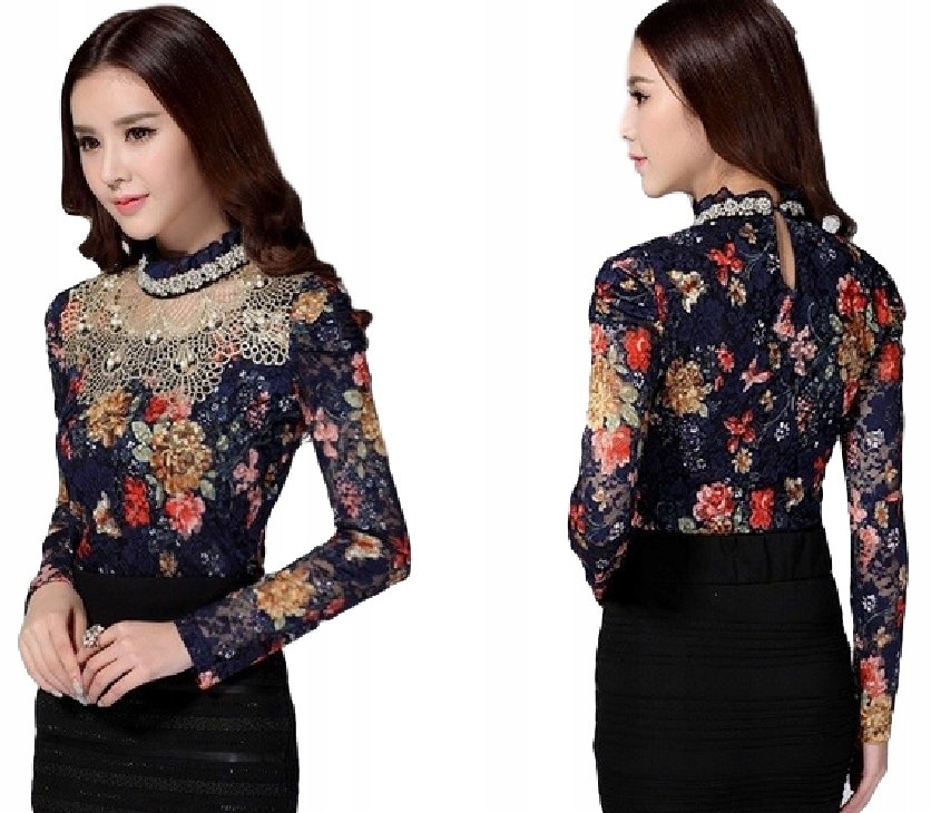 Elegancka bluzka damska stylowa vintage SEXY M 38
