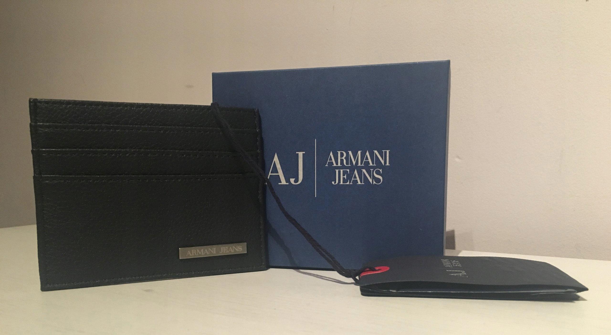 81c3002d7985c ARMANI JEANS ETUI NA KARTY KREDYTOWE NOWE USA HIT - 7584336275 ...