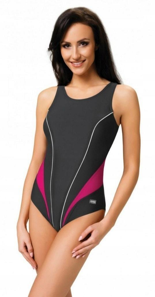c2b49cc00017c7 Strój kąpielowy jednoczęściowy kostium pływacki 42 - 7139424435 ...