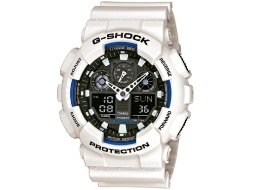 40e16e4035bcde Zegarek męski CASIO G-SHOCK GA-100B-7AER BIAŁY - 7524051619 ...