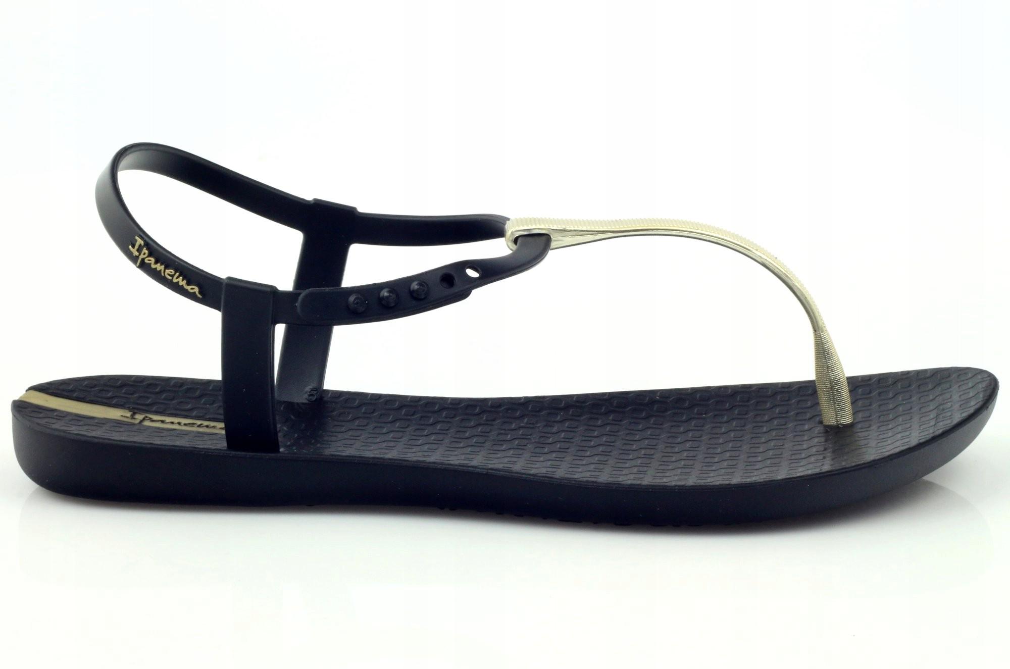 sandałki japonki adidas gumowe damskie granatowe