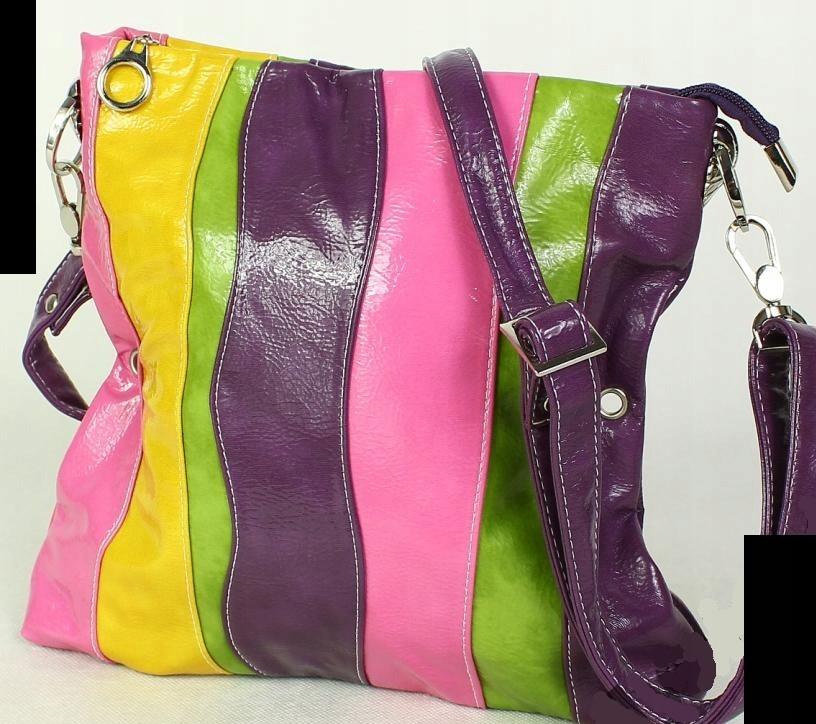 8d54485da0160 BELAMY * kolorowa letnia TOREBKA w paski na ramię - 7467809609 ...