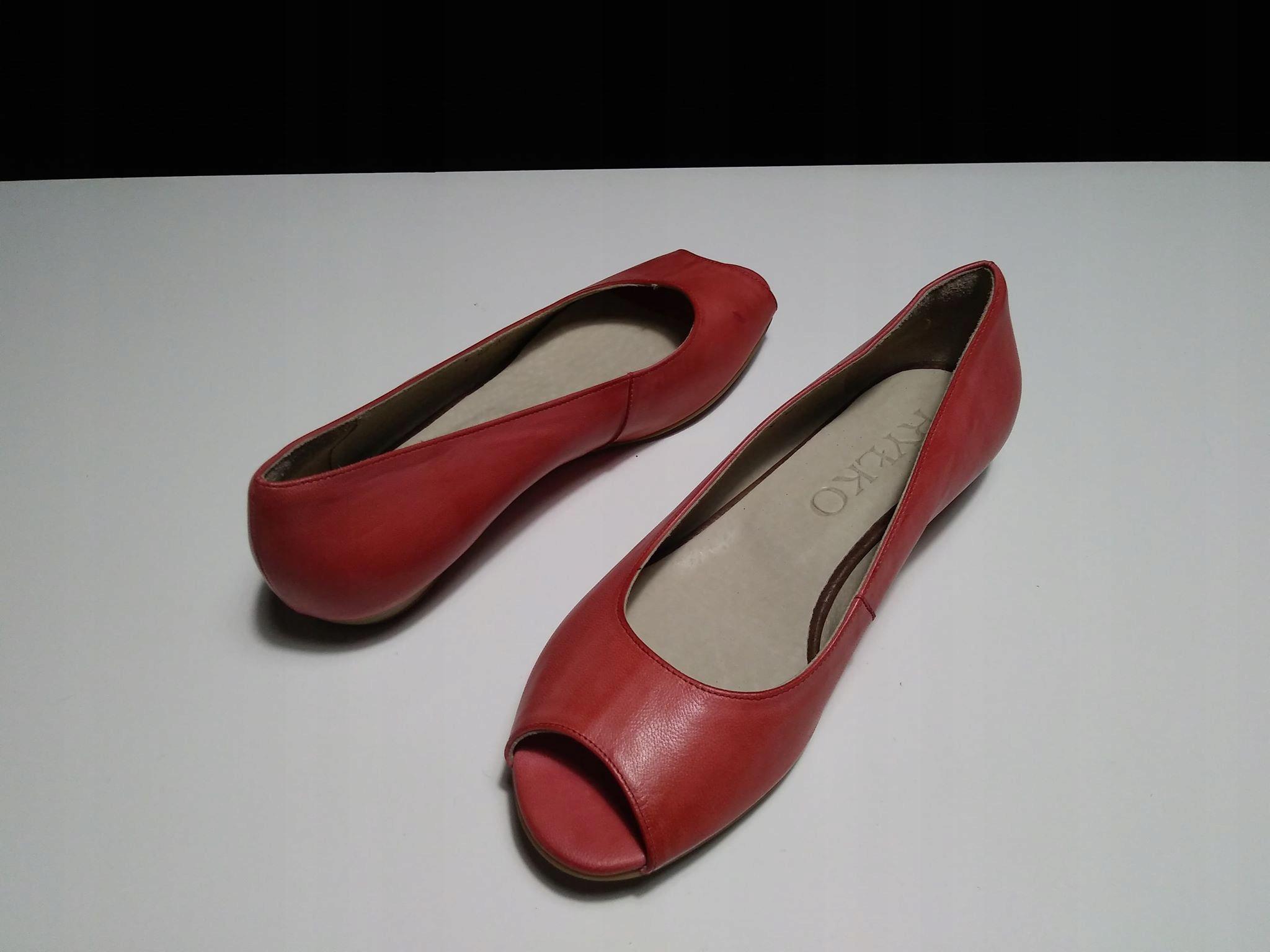 d628ed91 RYŁKO skórzane buty balerinki wiosna/lato HIT 38,5 - 7482820211 ...