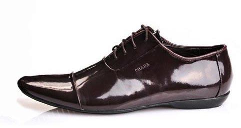 74b6fc93b6eea PRADA lakierki 43 buty męskie brązowe ślubne - 7429202585 ...