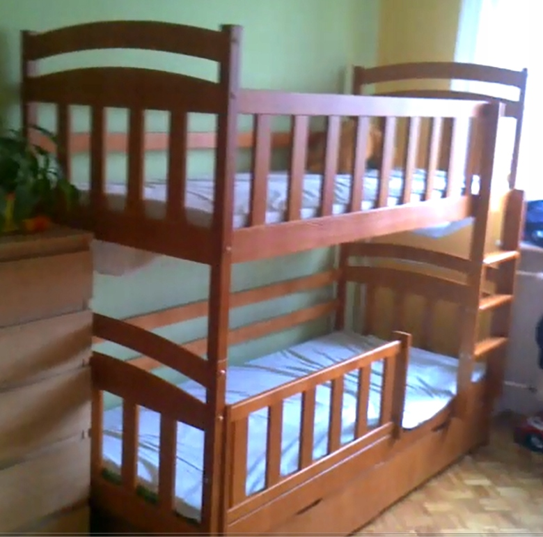 łóżko Piętrowe Używane Z Szufladami