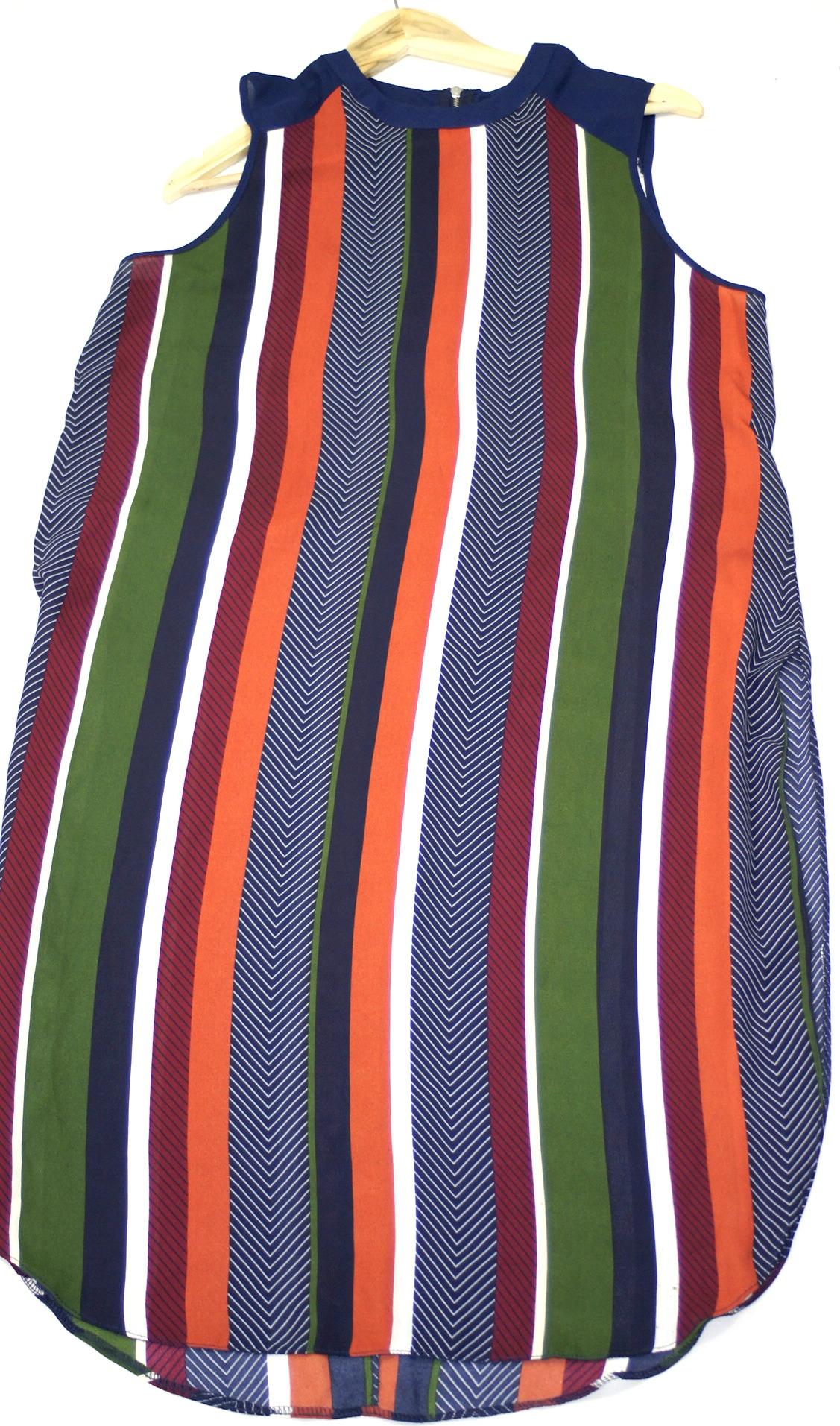 2ef0f0edd5 Papaya sukienka tunika w paski z zipem r 44 - 7323613411 - oficjalne ...