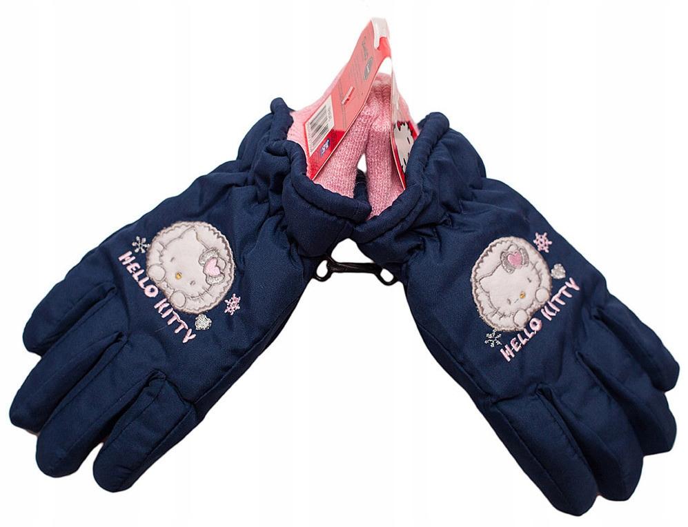 Rękawiczki narciarskie pięć palców Hello Kitty