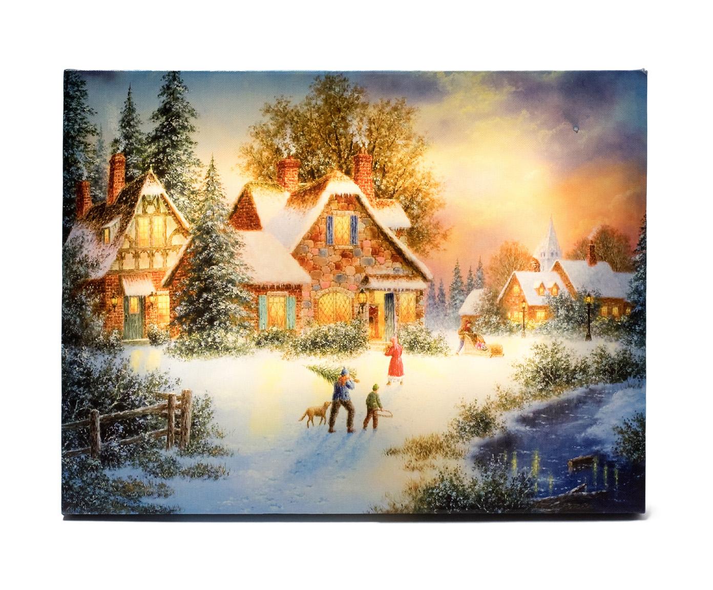 Obraz Podświetlany Zima 30 X 40 Na Prezent W Wa 7009737098