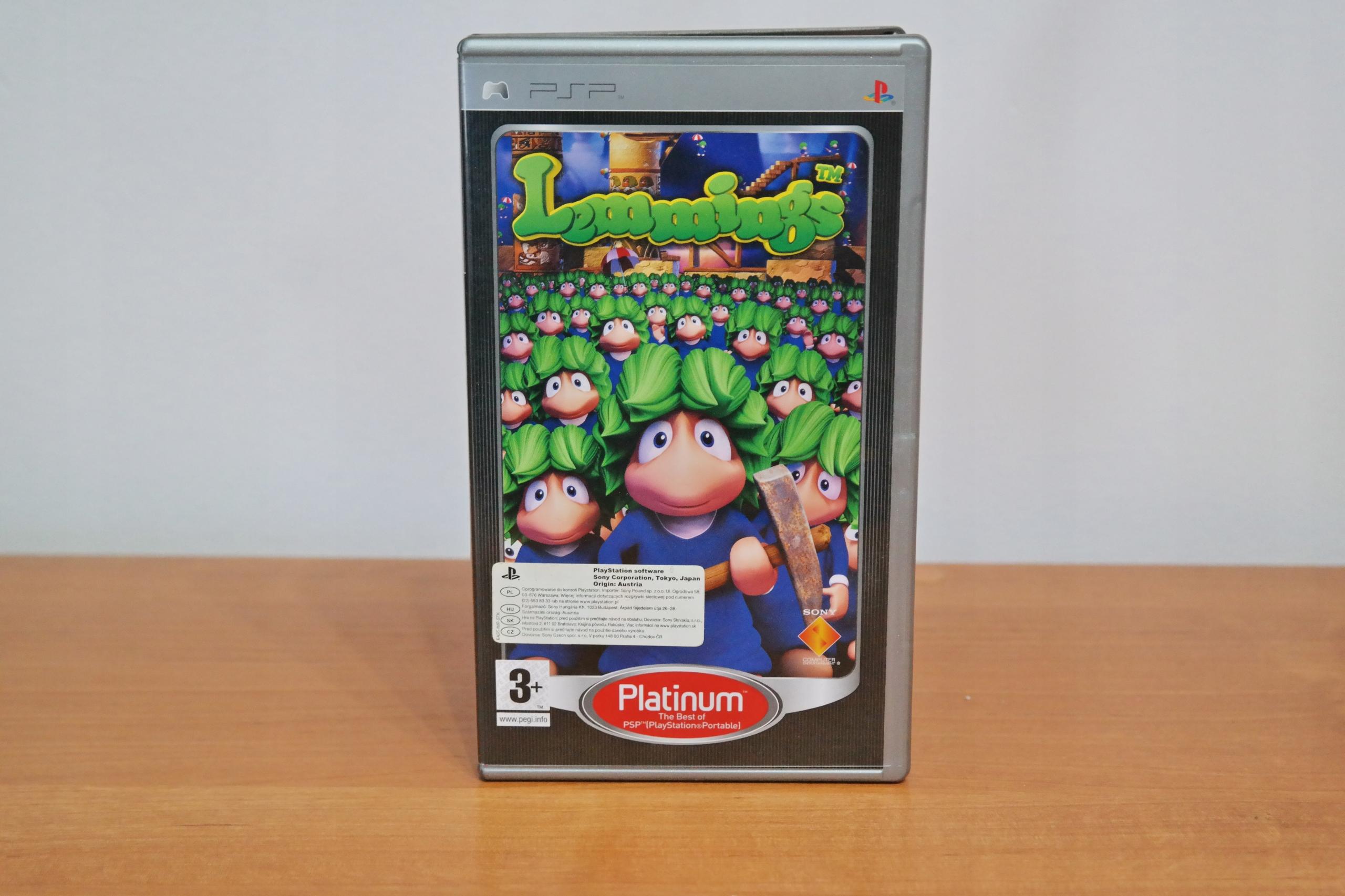 Gra PSP Lemmings