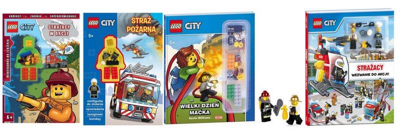 Lego City Straż Pożarna Książki Zadania6 Figurek 6605628328