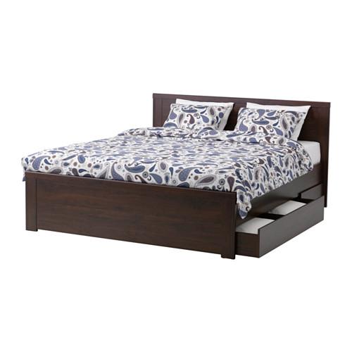 Ikea Brusali Rama łóżka Z Pojemnikiem 140x200 Dno