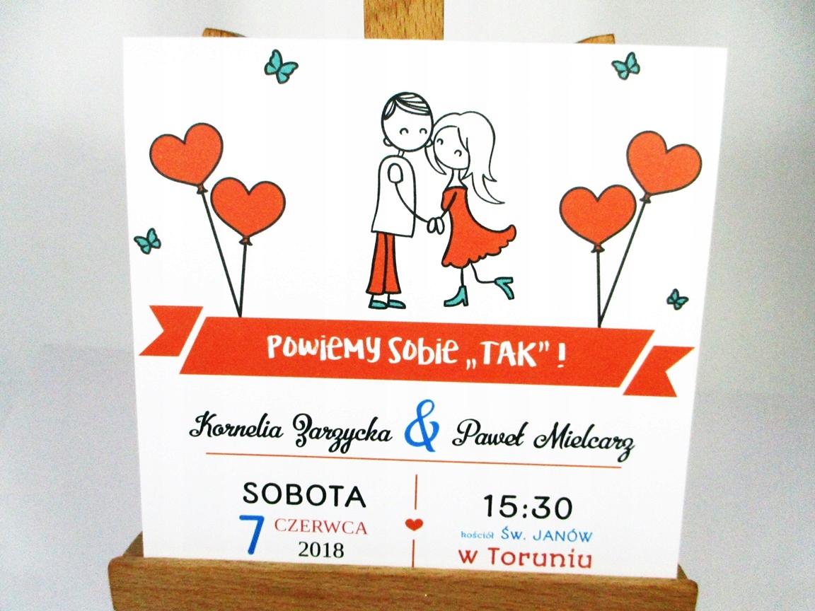 Zaproszenia ślubne Na ślub Na Wesoło Perskop 7592780929