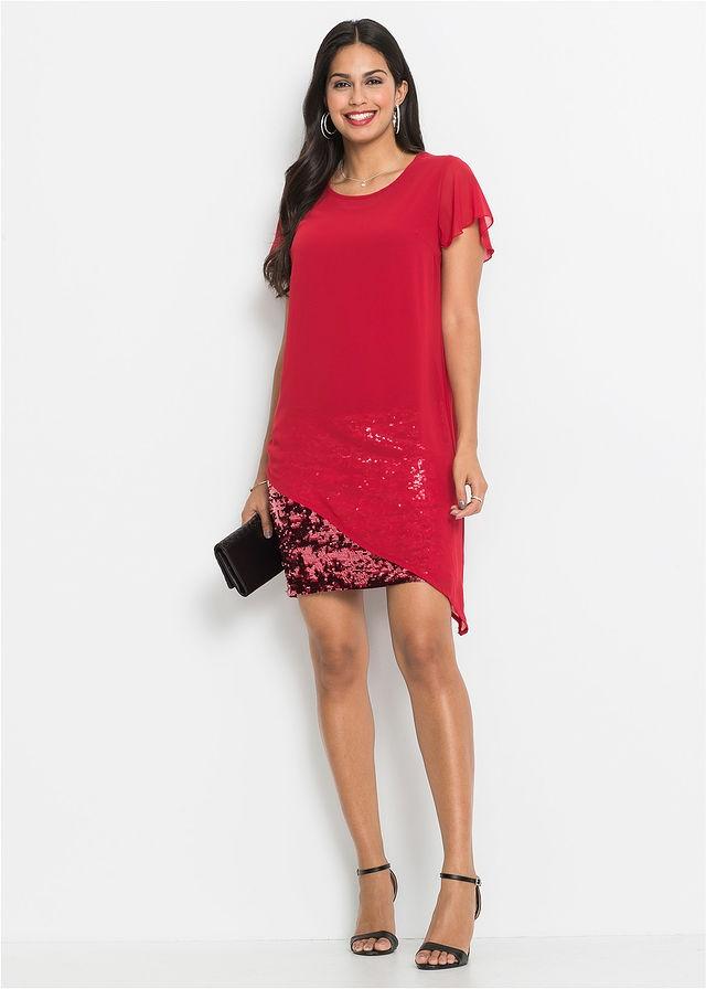 6f78be3f28 Sukienka koktajlowa z d czerwony 36 38 S M 908005 - 7736457545 ...