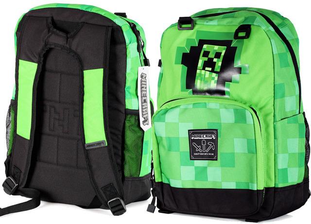 45903c3a31b4e Plecak szkolny Minecraft CREEPERS zieleń - 44 cm - 7211597897 ...