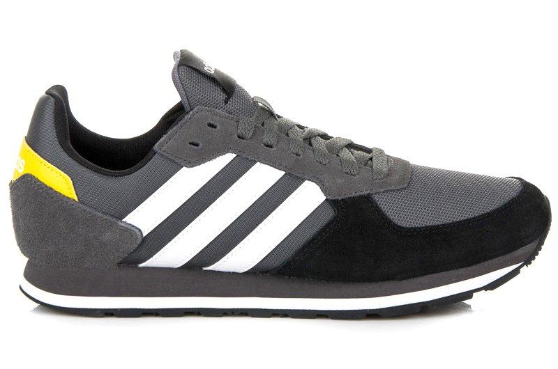 Szare Skórzane Buty Męskie Sportowe Adidas rozmiar 42,5