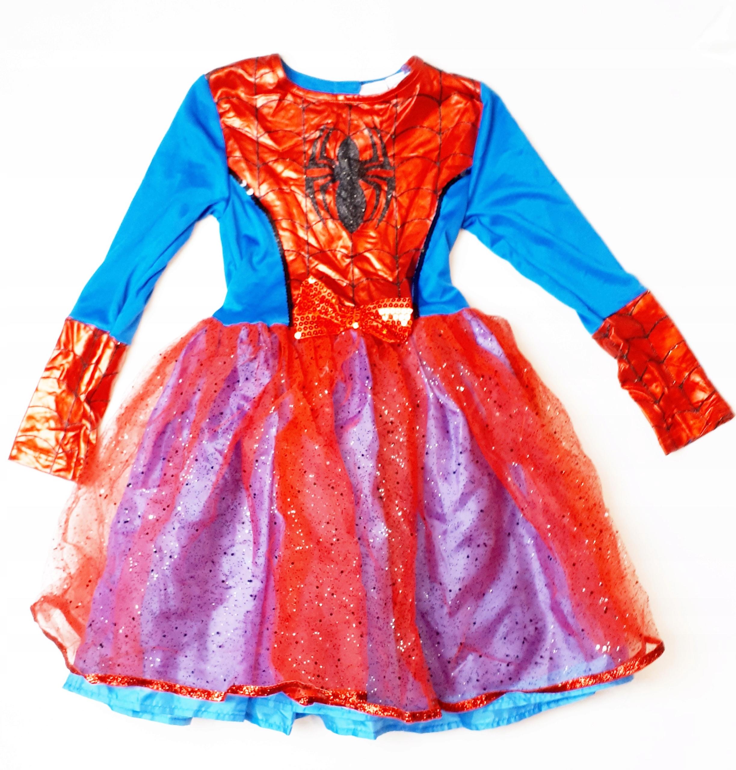 69528902ba4fc5 294 Spidermanka kostium strój przebranie 122 128 - 7717020115 ...
