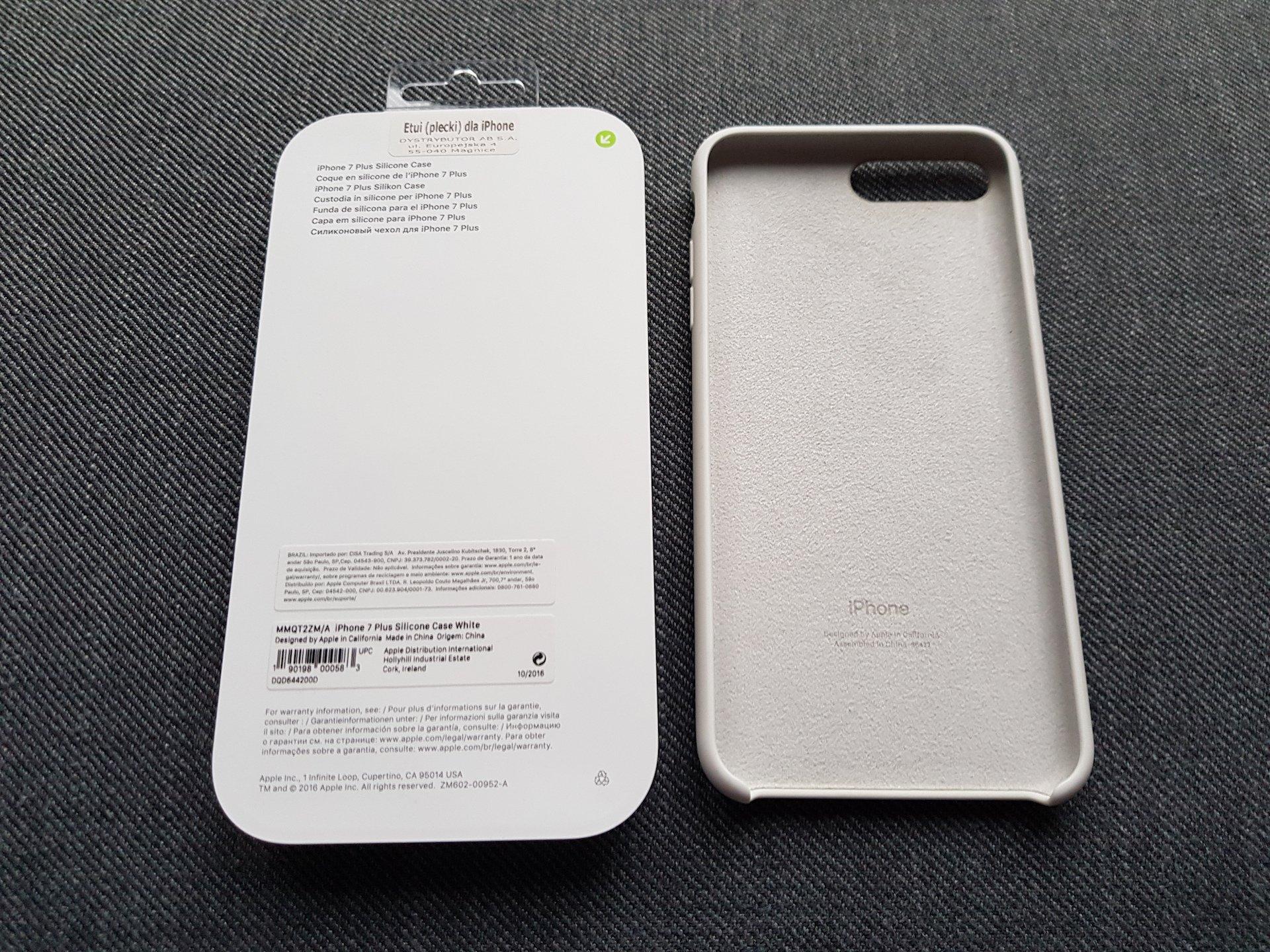 quality design 6fe0c 4857e Apple iPhone 7 / 8 Plus silicone case white etui