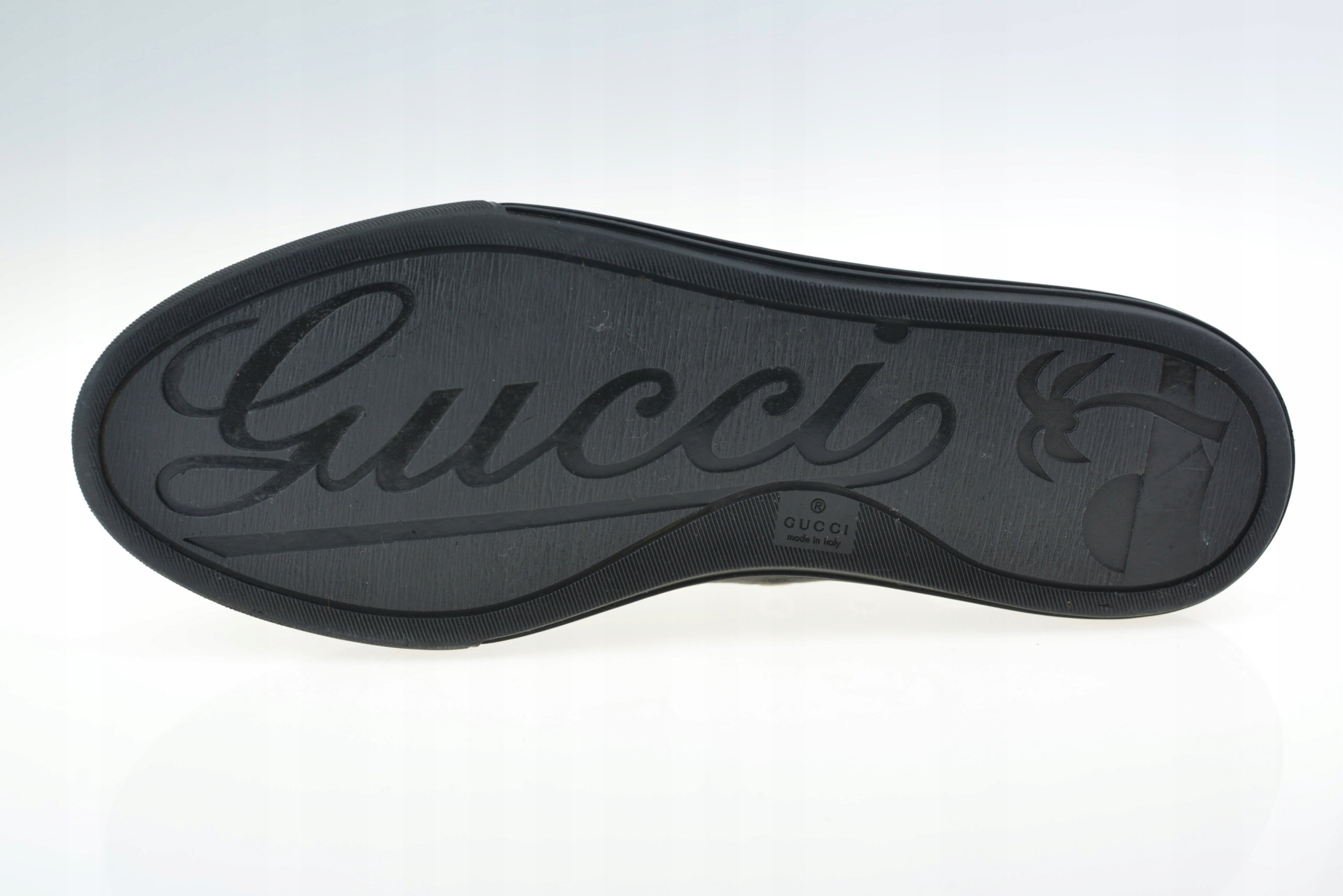 f57b26da50c26 BUTY GUCCI MINERAL BLACK LEATHER ROZ. 41 - 7732215039 - oficjalne ...