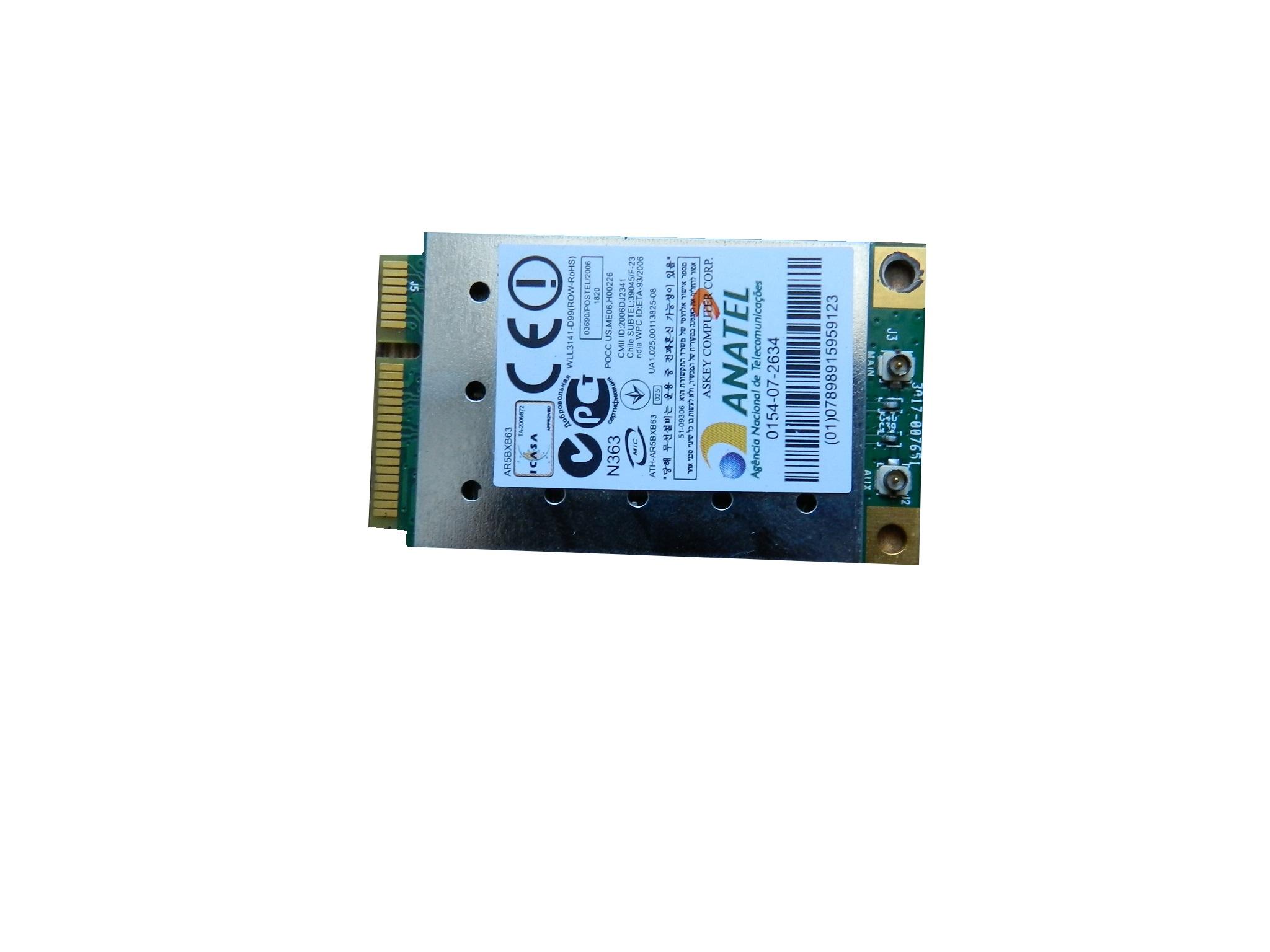 Karta Wi Fi Wifi Samsung R509 R510 R60 Ar5bxb63 6708474568