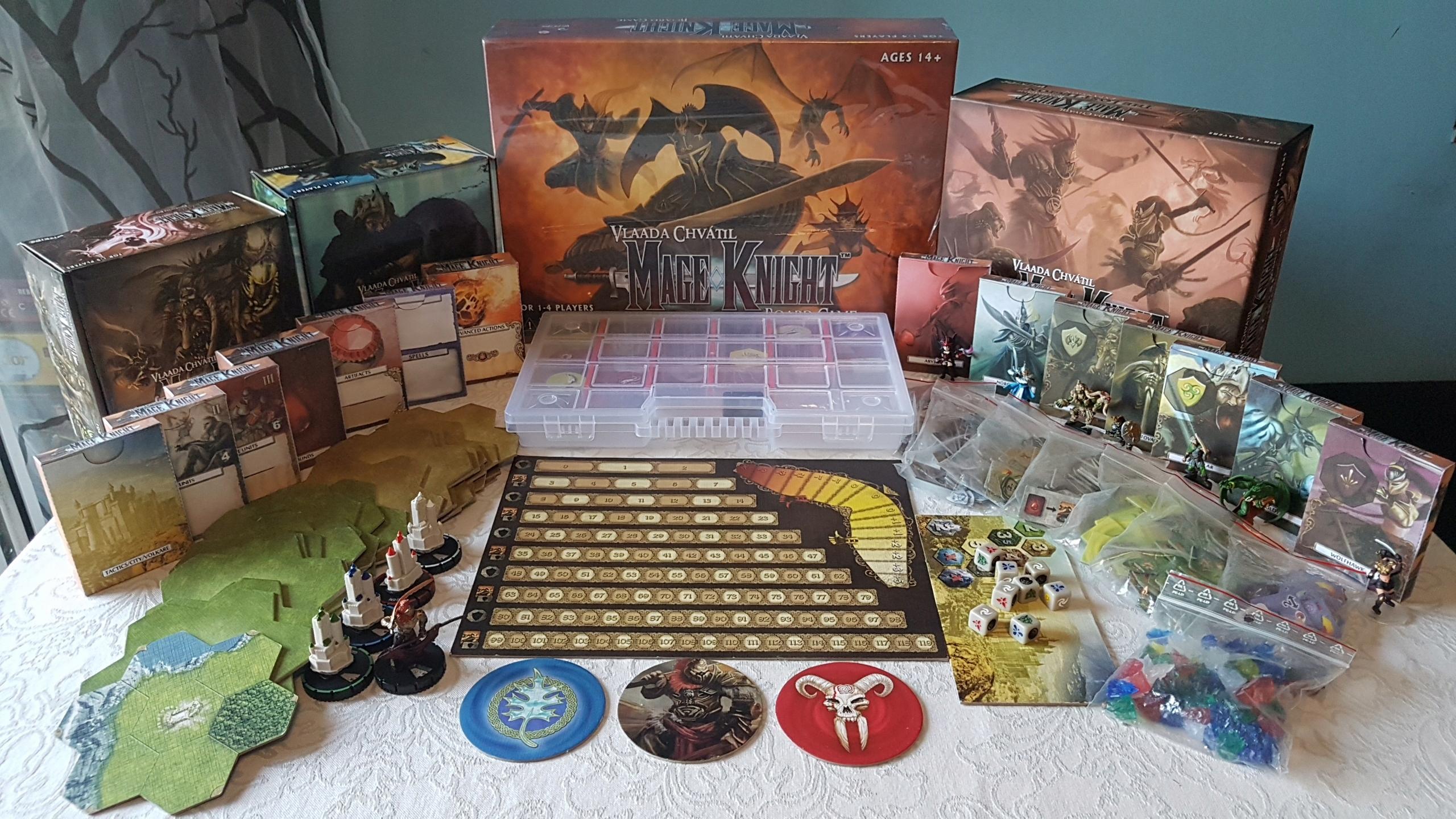 Mage Knight [ENG] + wszystkie dodatki + organizer