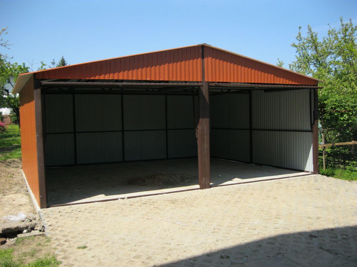 Garaże Blaszane 6x5 Blaszaki Cegła Garaż Akrylowy 7099210656