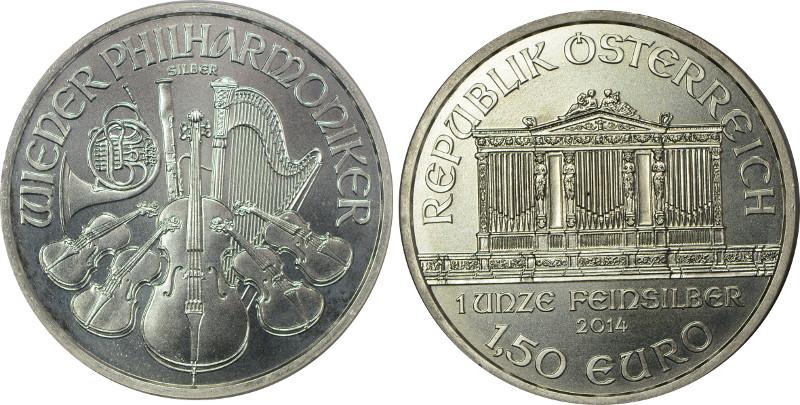 AUSTRIA 1,50 EURO 2014 FILHARMONICY GCN O507