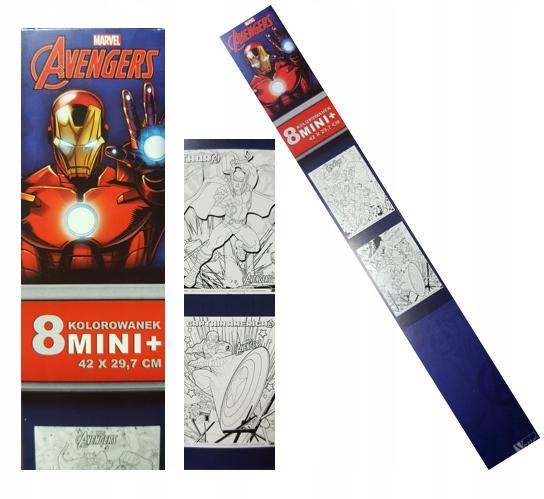 Plakat Kolorowanka 8 Arkuszy W Tubie Mini Avengers 7193784776