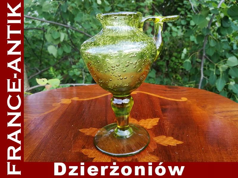 Wazonik Flakonik Grube Szkło Dekoracyjne Bąbelki