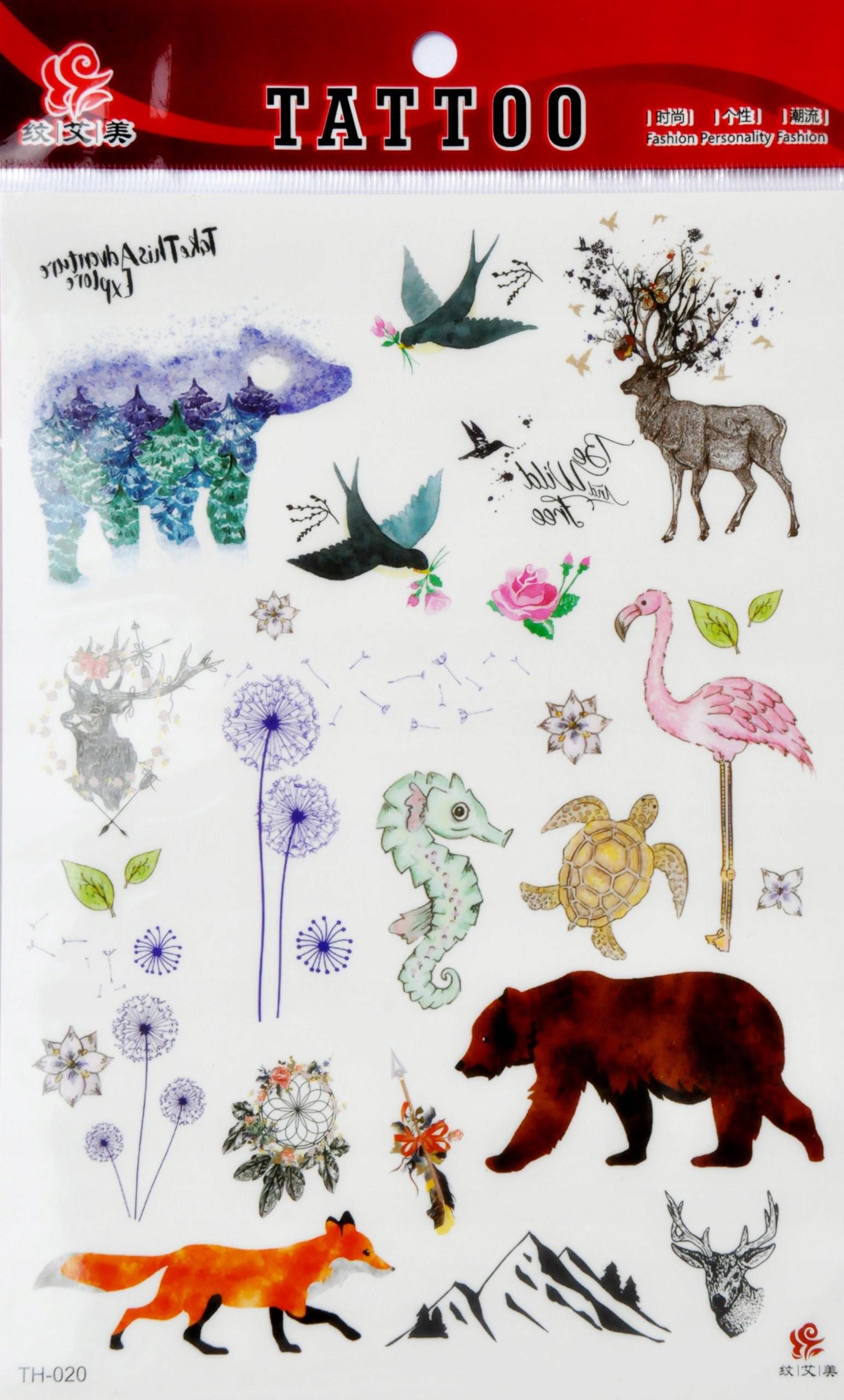 Tatuaże Tatuaż Dla Dzieci Ptaki Zwierzęta Flaming